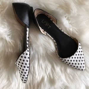 Ann Taylor D'orsay Spotted Flat